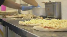 Preparation of authentic Italian pizza Live Action