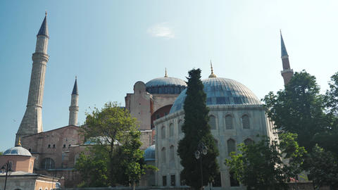 Istanbul Hagia Sophia outdoor side view Live Action