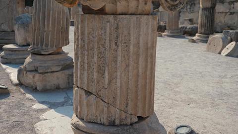Old roman column close up Footage