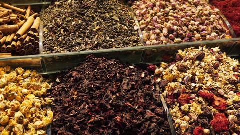 Natural organic turkish tea close up Live Action