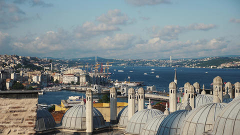 Beautiful view over the Istanbul and bosphorus strait Live Action