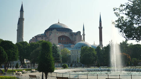 Istanbul Blue Mosque beautiful view Live Action