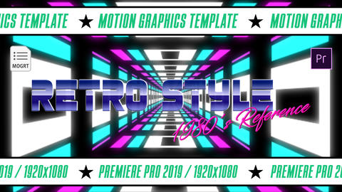 Retro Style Pack 80's Motion Graphics Template