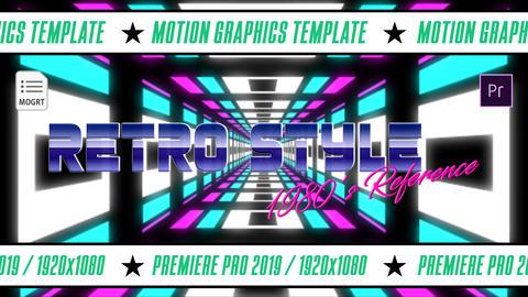 Adobe Premiere Pro Retro templates, motion graphics templates