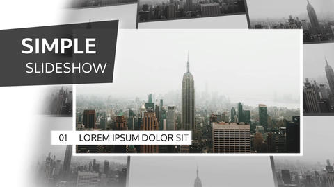 Simple Presentation Slideshow After Effects Template