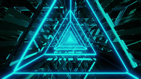 abstract glowing blue triangle wireframe background walpaper 3d rendering motion Animation