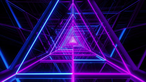 abstract glowing blue purple triangle wireframe background walpaper 3d rendering Animation