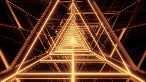 abstract glowing golden gold triangle wireframe background walpaper 3d rendering Animation