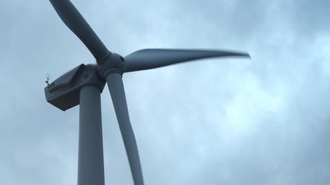 Wind Turbine in a large wind farm in Crimea. Renewable electric energy Live Action