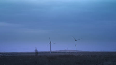 Wind turbines produce environmental energy. The concept of environmental Footage