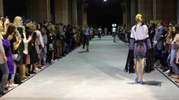 Model. Fashion show. Model on the catwalk. Woman. Girl. Female. Models Footage