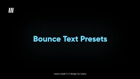 Bounce Text Animations Apple Motion Template