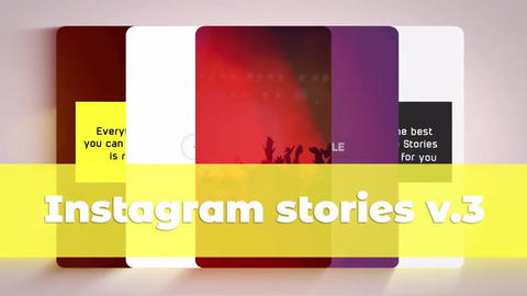 Instagram Stories v 3 After Effectsテンプレート