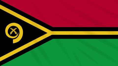 Vanatu flag waving cloth, background loop Animation