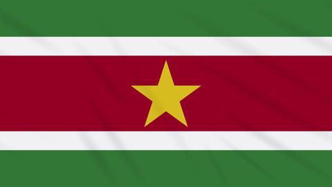 Suriname flag waving cloth, background loop Animation
