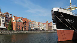 Soldek museum ship in Gdansk Poland Live Action
