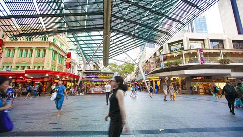 Australia, Brisbane, Queen Street - Time-lapse Footage