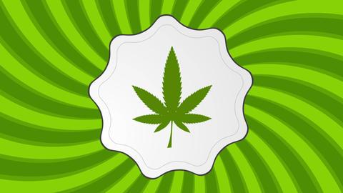 Retro cannabis icon video animation Animation