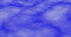 Dense clouds moving fast, in a downwards direction against blue background CG動画素材