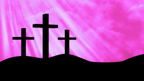 3 Crosses-Worship 5 Loopable Background Animation