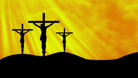 Christ on Crosses-Worship 6 Loopable Background Animation
