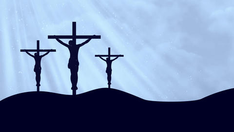 Christ on Crosses-Worship 8 Loopable Background Animation