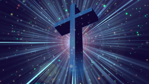Divine Worship Cross 1 Loopable Background Animation