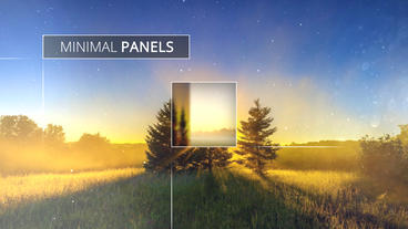 Minimal Panels Slideshow - Apple Motion and Final Cut Pro X Template Plantilla de Apple Motion