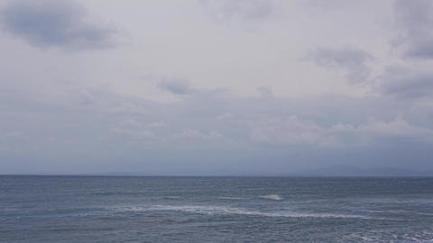 Dark Clouds Above the Sea Footage