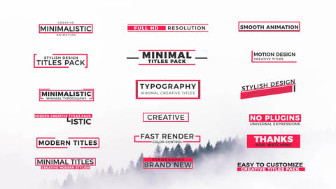 Creative Animated Titles Motion Graphics Template