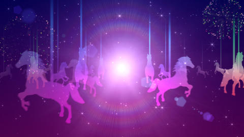 Illuminated merry-go-round Animation