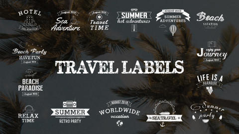 Travel Labels After Effects Template
