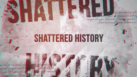 Shattered History After Effects Template