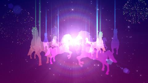 Illuminated merry-go-round Animation