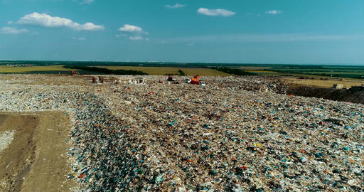 A Huge Garbage Dump, An Environmental Disaster Of Our Planet Live Action