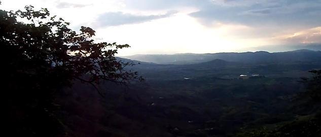 Sunset tropical landscape Footage