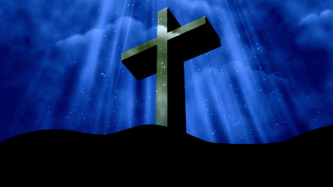 Worship Cross 2 Loopable Background Animation