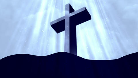 Worship Cross 3 Loopable Background Animation
