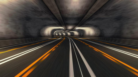Abstract Speed Highway Road Tunnel Animation
