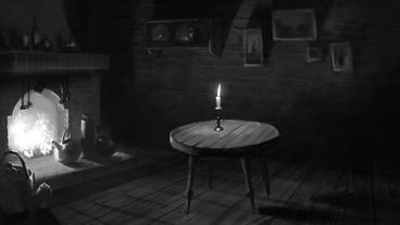 Dark Room with a Fireplace and Candlelight After Effects Project