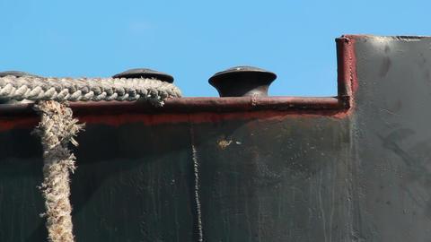 Anchored cargo ship Footage