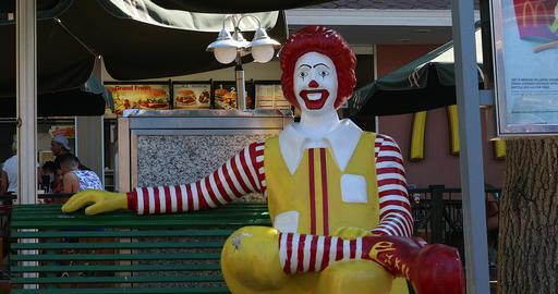 Ronald McDonald Statue Live Action