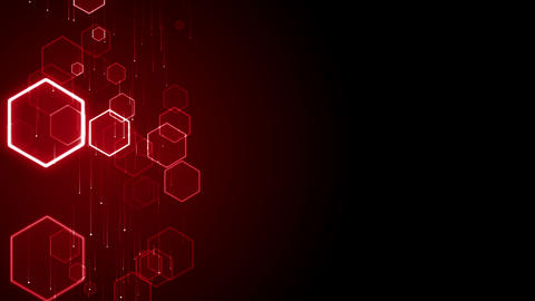 Hex particles medical grid hexagon pattern technology background loop Animation