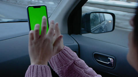 Smartphone with a green screen Filmmaterial