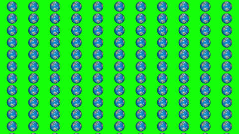 Isolated a lot of world are rotating together background. Parallel universe concept Animation