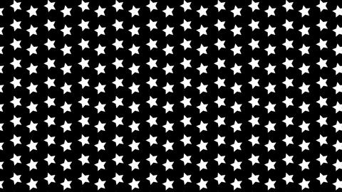 Colorful rotating stars background. Ornaments, decoration pattern. Abstract graphic on black Animation