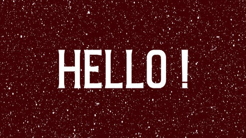 "Animated text of ""Hello"" background. Isolated word illustration Animation"