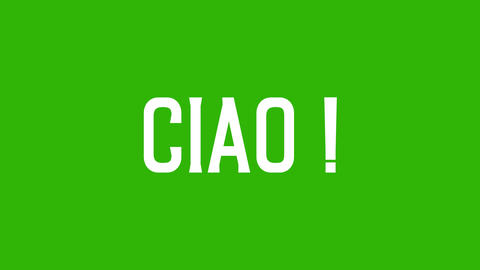 """Animated text of """"Ciao"""" Italian word. Isolated letter.... Stock Video Footage"""