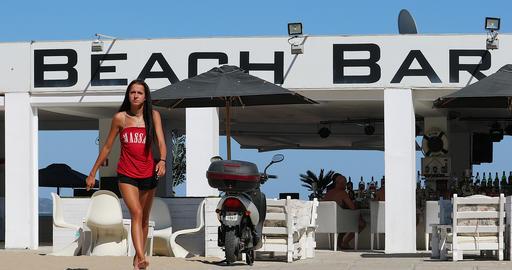 Beach Bar In Sunny Beach Bulgaria GIF