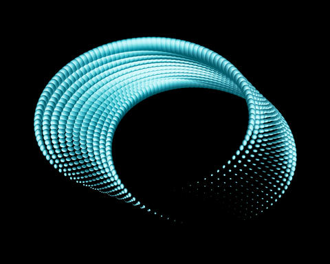 Abstract Twisted Design Element Isolated On Black Background Photo